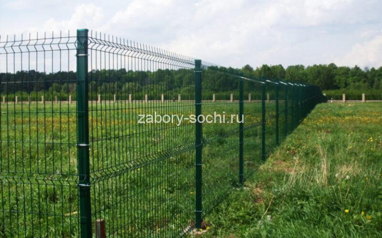 забор из секционной 3d сетки
